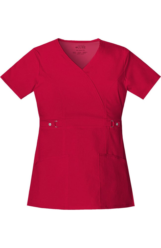 03443b83ec8 Cherokee Luxe Junior Mock Wrap Top – Scrubs Direct