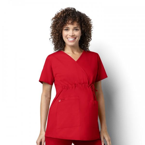 68a6f660635 WonderWORK Women's Maternity Mock Wrap Top – Scrubs Direct