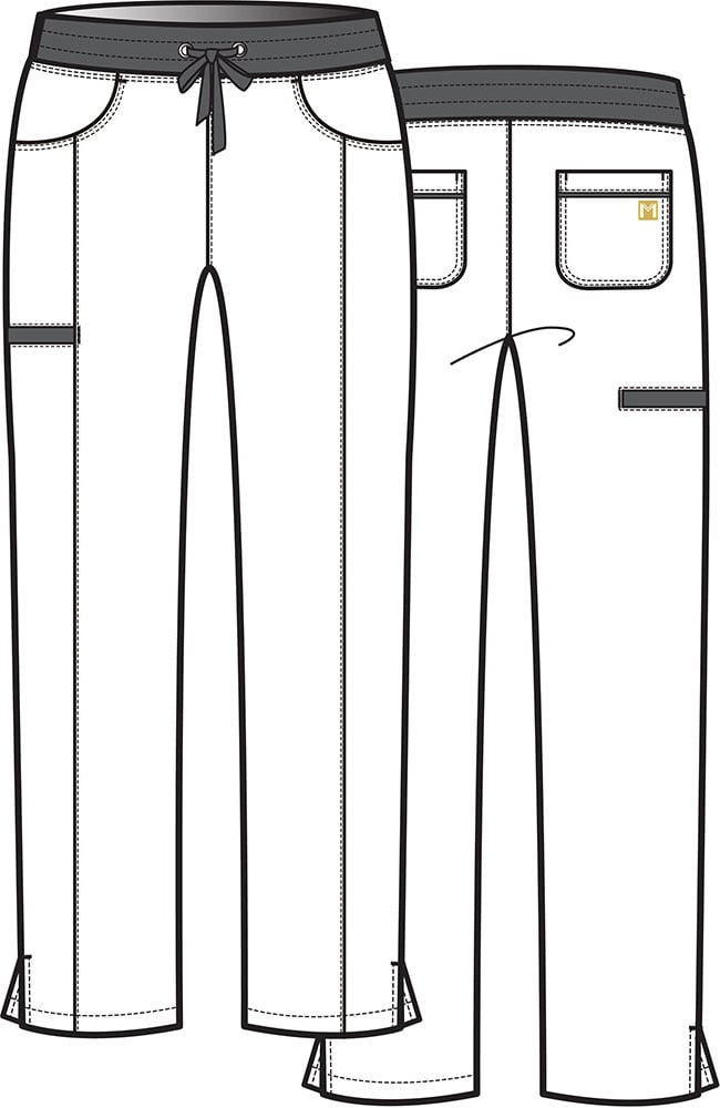 Maevn Scrubs MATRIX PRO Women/'s Full Contrast Yoga Style Waistband Pants 6901